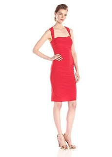laundry BY SHELLI SEGAL Women's X-Back Jersey Cocktail Dress, Risque, 0