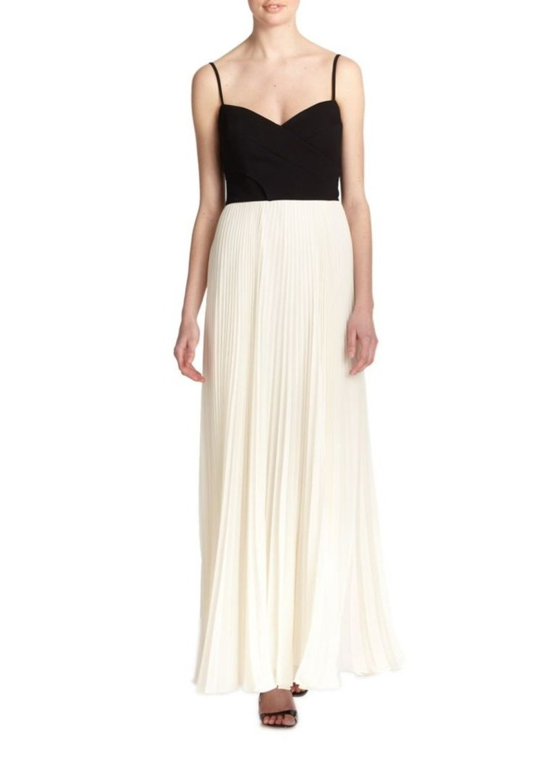 Laundry by Shelli Segal Woven Bodice Gown