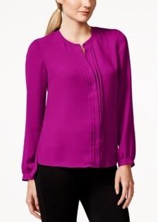 Laundry by Shelli Segal Woven Pleat-Front Shirt