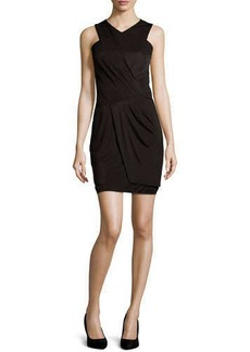 Laundry by Shelli Segal Wrap-Front Cocktail Dress, Black