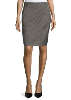 Laundry by Shelli Segal Wrap-Style Woven Pencil Skirt