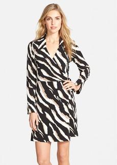 Laundry by Shelli Segal Zebra Print Jersey Faux Wrap Dress (Online Only)