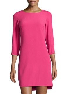 Laundry by Shelli Segal Zip-Cuff 3/4-Sleeve Shift Dress