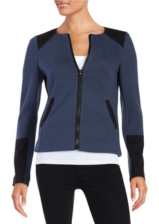 LAUNDRY BY SHELLI SEGAL Zip-Front Jacket