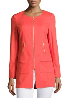 Laundry by Shelli Segal Zip-Front Topper Jacket