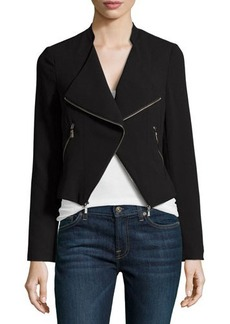 Laundry by Shelli Segal Zip-Trim Open-Front Jacket