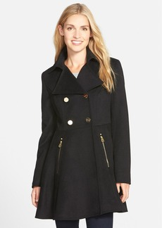 Laundry by ShelliSegalDouble Breasted Fit & Flare Coat (Regular & Petite)