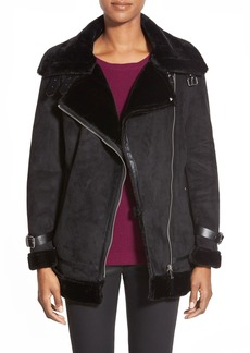 Laundry by Shelli Segal Faux Shearling Moto Jacket (Regular & Petite)