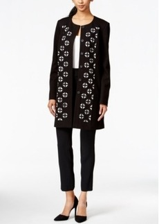 Laundry Collarless Laser-Cut Coat