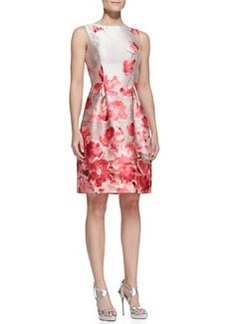Lela Rose Boat-Neck Dress with Tucked Waist