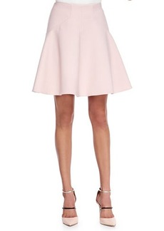 Lela Rose Box-Pleated A-Line Skirt