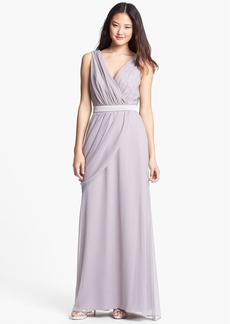 Lela Rose Bridesmaid Draped Chiffon Dress