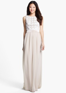 Lela Rose Bridesmaid Lace & Chiffon Dress (Online Only)