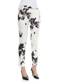Lela Rose Caroline Printed Ankle Pants
