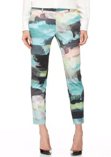 Lela Rose Caroline Printed Ankle Pants, Multi