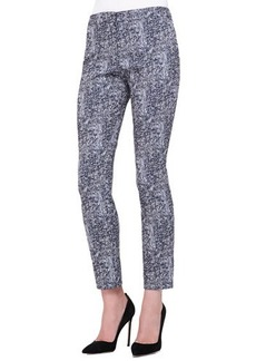 Lela Rose Caroline Tweed-Pattern Cropped Pants