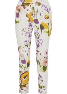 Lela Rose Catherine printed cotton-blend straight-leg pants