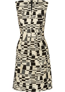 Lela Rose Cotton-blend jacquard dress