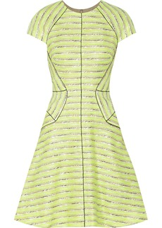 Lela Rose Cotton-blend tweed dress