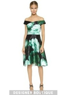 Lela Rose Draped Bodice Dress