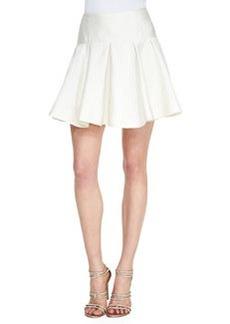 Lela Rose Drop-Waist Flounce Skirt, Ivory