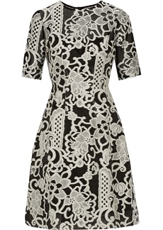 Lela Rose Embroidered woven dress
