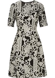 Lela Rose Embroidered woven dress