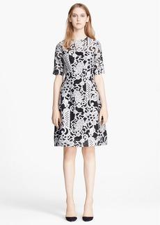 Lela Rose Fil Coupe Fit & Flare Dress