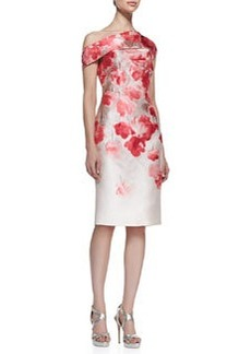 Lela Rose Floral Off-Shoulder Sheath Dress