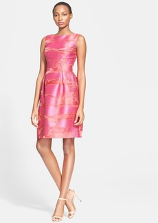 Lela Rose Full Skirt Fil Coupe Sheath Dress