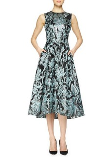 Lela Rose Ikat Brocade Full-Skirt Dress  Ikat Brocade Full-Skirt Dress