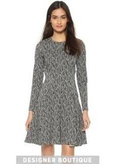 Lela Rose Long Sleeve Reversible Dress