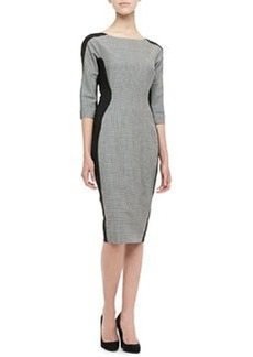 Lela Rose Long-Sleeve Side-Panel Dress