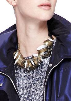 Lela Rose Metal-Circle Tie Necklace