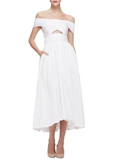 Lela Rose Off-The-Shoulder Cutout Dress  Off-The-Shoulder Cutout Dress