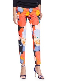 Lela Rose Painterly Printed Caroline Pants