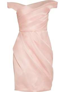 Lela Rose Pleated silk-organza dress