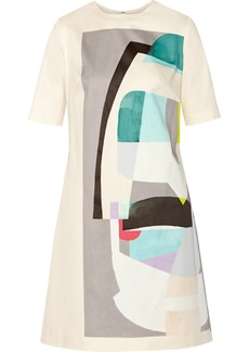 Lela Rose Printed cotton-blend dress