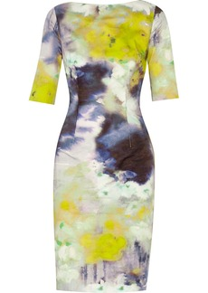 Lela Rose Printed cotton-twill dress