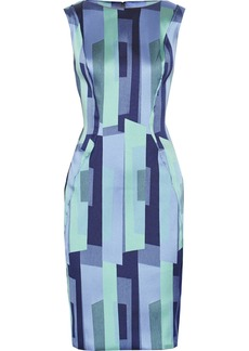 Lela Rose Printed satin-twill dress