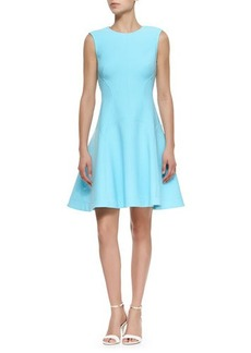 Lela Rose Raised Seam Scuba Dress