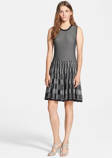 Lela Rose Reversible Plaid Knit Dress