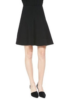 Lela Rose Seamed A-Line Skirt, Black