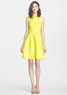 Lela Rose Seamed Neoprene A-Line Dress