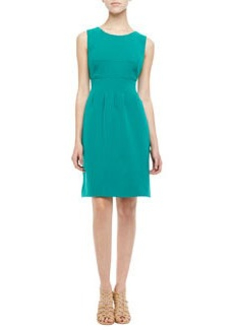 Lela Rose Sleeveless Classic Sheath Dress, Jade