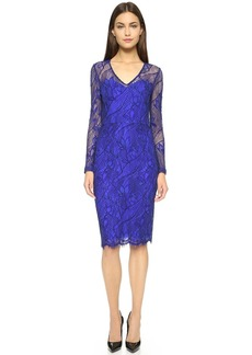 Lela Rose Sleeveless Lace Dress