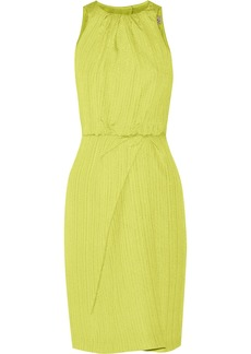 Lela Rose Textured-silk dress