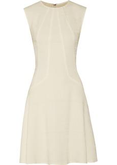 Lela Rose Textured wool-blend dress