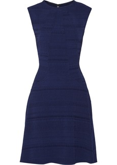 Lela Rose Textured wool-blend dress