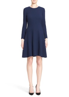 Lela Rose Tiered Crepe Dress
